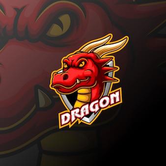 Dragon mascot logo design
