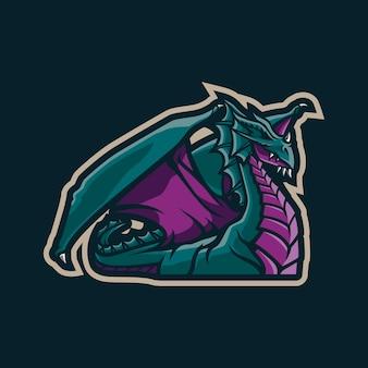 ドラゴンマスコットのロゴデザイン