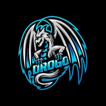 ドラゴンマスコットロゴeスポーツゲーム
