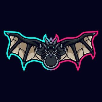 ゲームツイッチストリーマーゲームeスポーツyoutubefacebookのドラゴンマスコットロゴ
