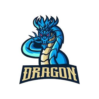 ドラゴンのマスコットのロゴ