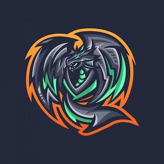 ドラゴンマスコットロゴ