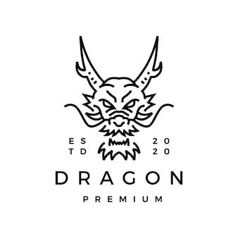 Логотип монолинии дракона.