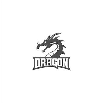 ドラゴンのシルエットのロゴ