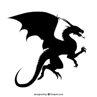 Dragon silhouette