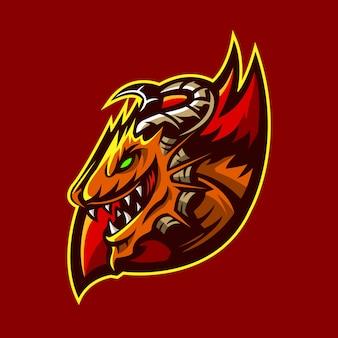 Dragon sport logo  illustration