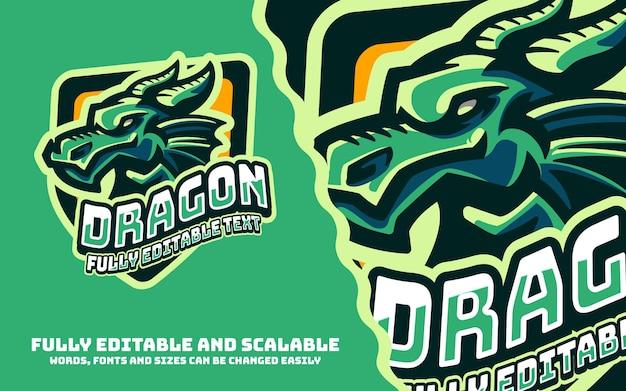 Logo delle mascotte sportive del drago