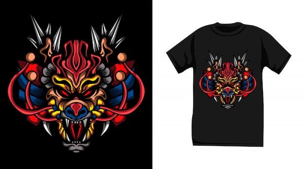 Дизайн футболки дракона