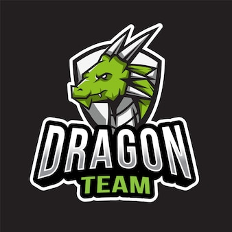 Dragon team logo template