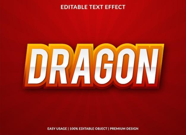 Dragon text effect bold font