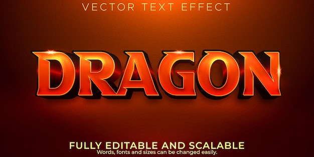 Dragon text effect, editable comic and funny text style