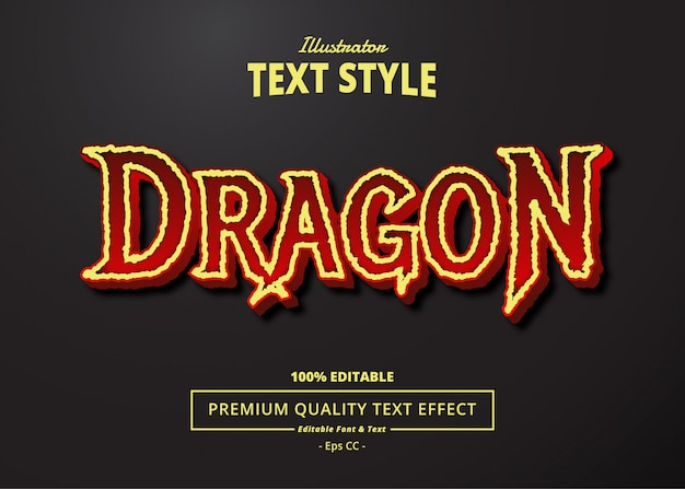 Dragon text effect