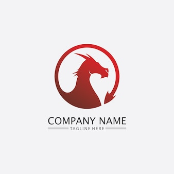 드래곤 벡터 아이콘 동물 판타지 일러스트 디자인 로고 템플릿
