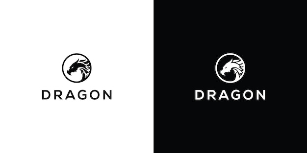 Dragon vector icon illustration design logo template premium vector