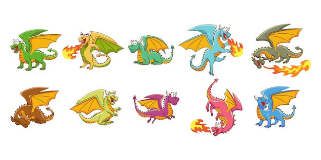 Dragon vector set collection