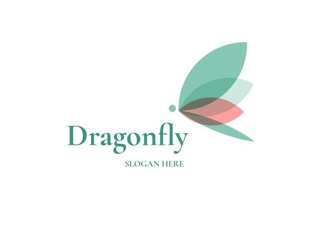 Шаблон дизайна логотипа стрекоза