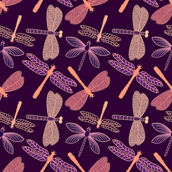 Dragonfly pattern design