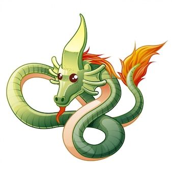 Dragons are fantasy animal in cartoon style.