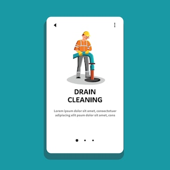 Drain cleaning and repair service worker