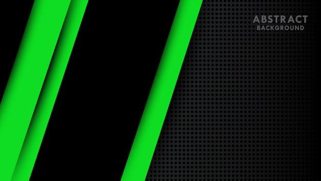 Drak фон с зелеными абстрактными формами