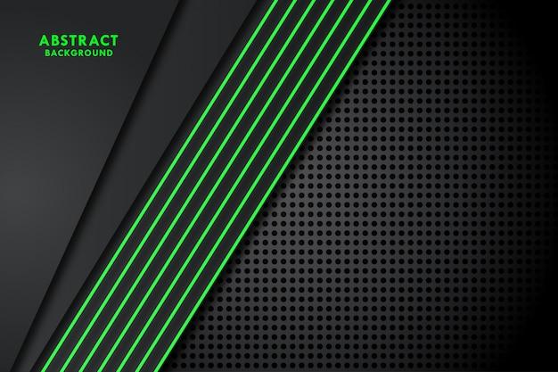 Drak фон с зеленой линией