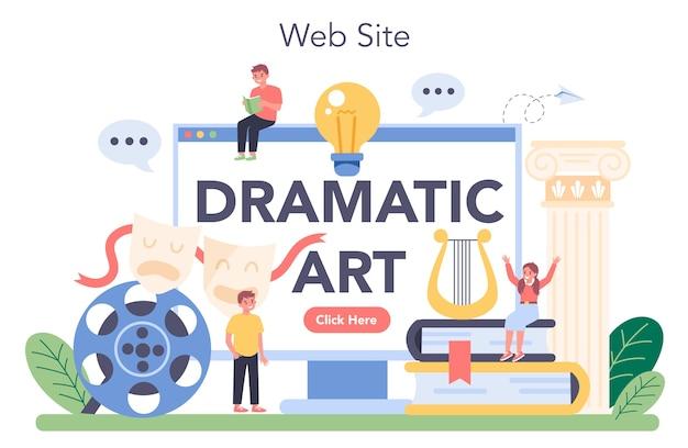 Drama class online service or platform.
