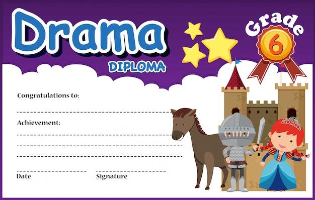 A drama diploma template