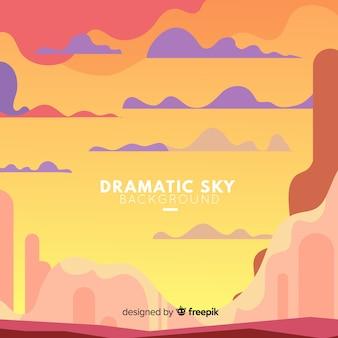 Драматический фон неба