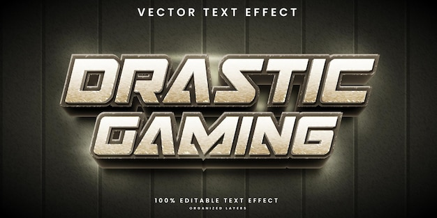 Drastic gaming editable text effect