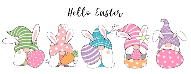 Рисуем знаменных гномов с яйцами на пасху и весну