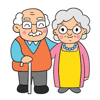 Draw doodle styles of grandparents day.