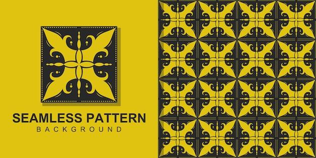 모양으로 사각형 원활한 패턴 배경 그리기