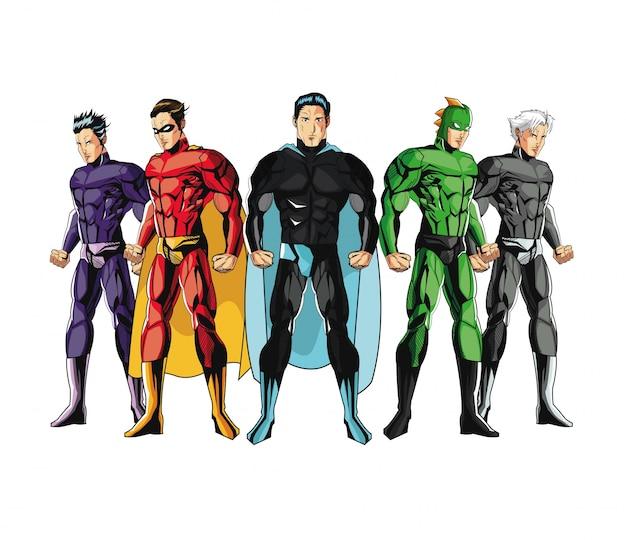 Draw of superhero cartoon