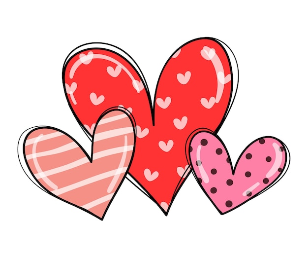 Draw sweet love heart for valentine day