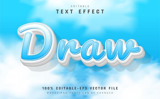 Draw text effect cartoon style