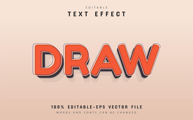 Draw text, retro style text effect