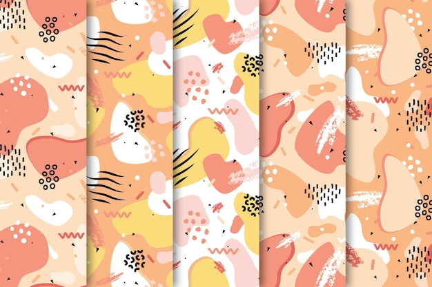 Draw with colorful pattern collection wallpaper