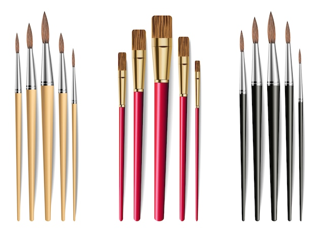 Drawing brushes collection