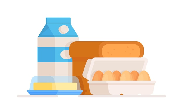 Drawing of dairy products