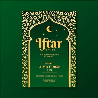 Drawing iftar invitation template