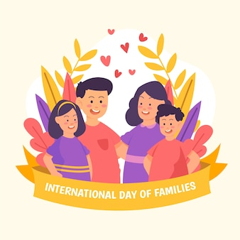 Drawing international day of families illustration