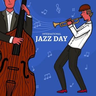 Disegno di un evento internazionale di jazz day