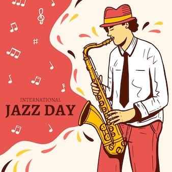 Disegno giornata internazionale del jazz