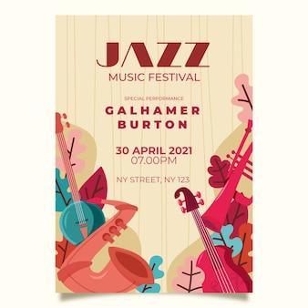 Рисунок плаката международного дня джаза
