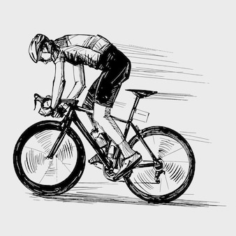 自転車競技の絵