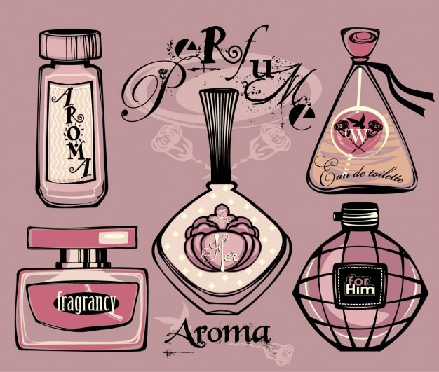 Drawing perfume bottles