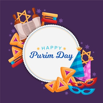 Drawing of purim day theme