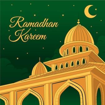 Drawing of ramadan