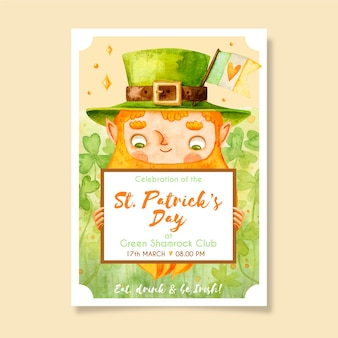 Drawing of  st. patricks day poster template