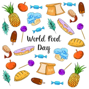 Drawing style for world food day